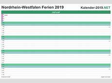 FERIEN NordrheinWestfalen 2019 Ferienkalender & Übersicht