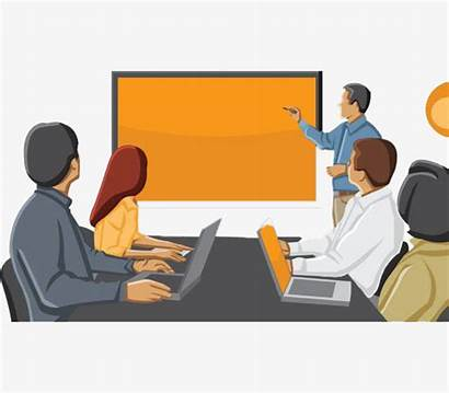 Meeting Office Clipart Conversation Cartoon Transparent Computer