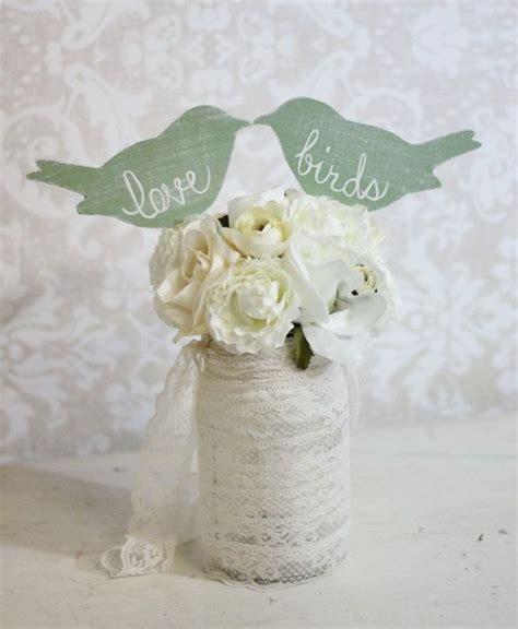 shabby chic cake topper wedding cake topper love birds shabby chic wedding decor item p106031 28 50 via etsy