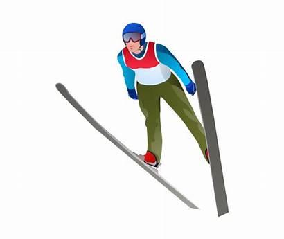 Ski Jump Clipart Winter Olympic Jumper Skiing