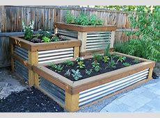 25 Diy Raised Garden Beds Corrugated Metal, Wood