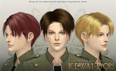 kewai dou levi hairstyle sims  hair male sims hair