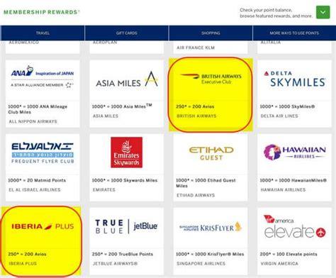 british airways  iberia frequent flyer programs