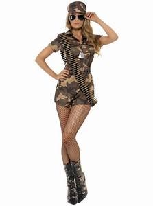 Costume sexy military girl