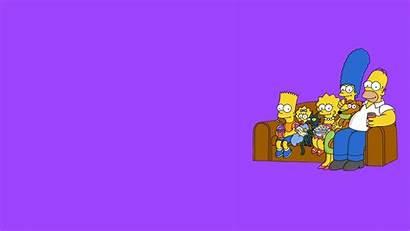 Simpsons Background Purple Cartoon Desktop Pc Sofa