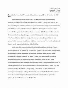 dbq 13 start of the cold war essay