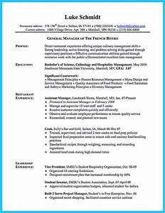 Sample Of Great Resume Excellent Culinary Resume Samples To Help You Approved