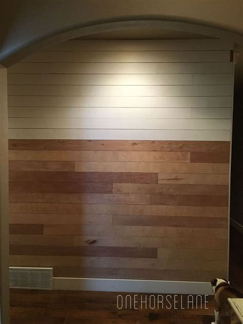 Easy Shiplap by Diy Shiplap Wall Easy Cheap And Beautiful Part 1