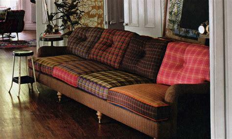 interior decoration ideas tartan plaid sofa plaid sofa