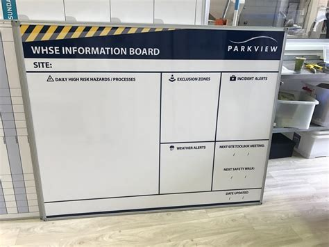 safety  whse site check boards branded whiteboards