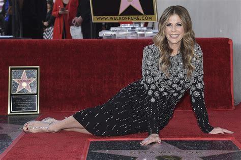 rita wilson receives  star   hollywood walk
