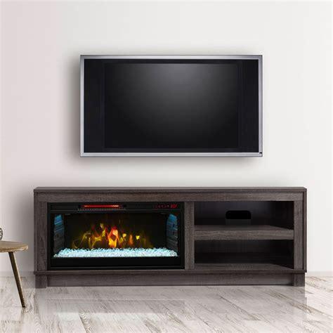 cameron electric fireplace tv stand  grey cs mm