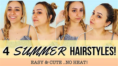 summer hairstyles cute easy no heat with unice