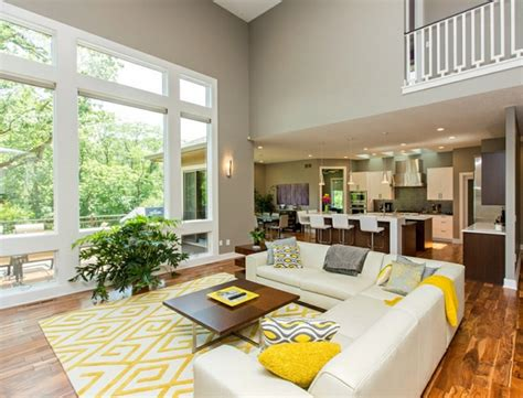 Wohnzimmer Geeignet by Wohnzimmer Farbgestaltung Grau Und Gelb Als Farbkombination