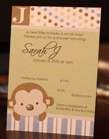 free printable monkey baby shower invitations sabby in suburbia monkey themed baby shower free printables