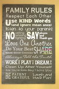 Easy DIY Family Rules Artwork - Happiness is Homemade