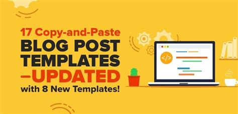 25 Copy-and-Paste Blog Post Templates