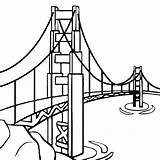 Bridge Golden Gate Clipart Drawings Easy Library Clip Drawing sketch template