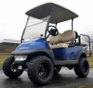 48v Lifted Electric Golf Cart Club Car Precedent Blue Mud