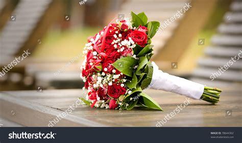 wedding flowers isolated  bokeh stock photo