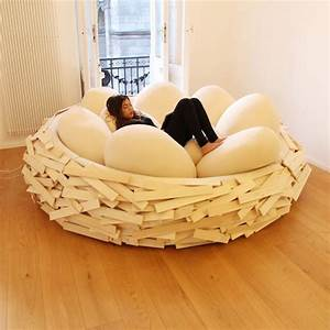 this is not a real bird39s nest just a strange piece of With bean bag like furniture