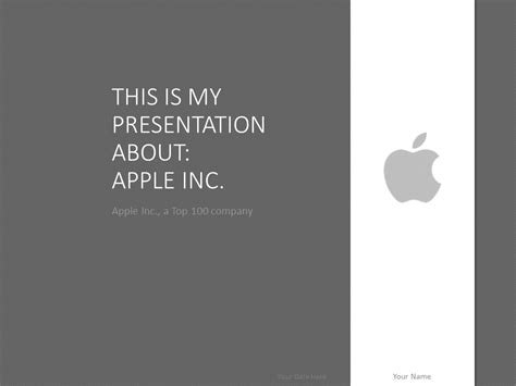 apple powerpoint template grey presentationgocom