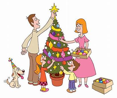 Decorating Tree Christmas Clip Vector Illustration Illustrations