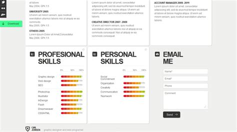 Creative Website Resumes by Creative Web Html Resume Template Web Html Resume