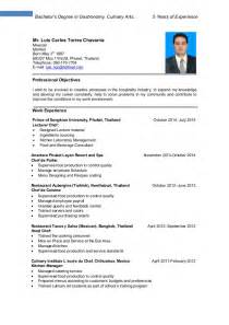 resume objective for culinary arts resume luis torres culinary