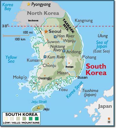 map  korea  printable maps