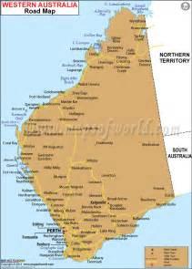 Road Map Western Australia