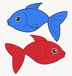 Red Fish Blue Fish Clipart - ClipartXtras