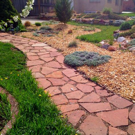 flagstone paths smaller flagstone path yard and garden pinterest