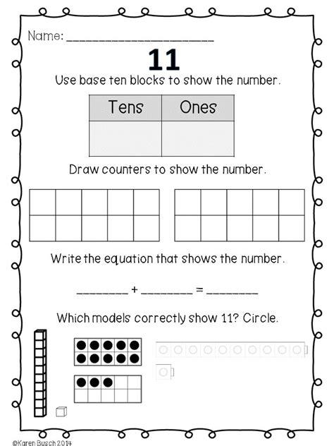 decomposing numbers kindergarten worksheets composing