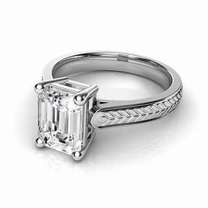 Emerald Cut Solitaire Diamond Engagement Rings Archives