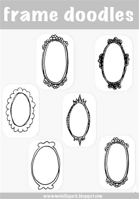 printable frame doodle tags digital fun