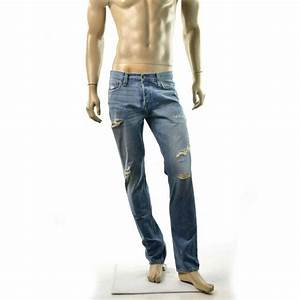 Hollister Jeans Mens Slim Straight Low Rise Destroyed Jean ...