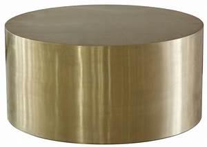 cordova bronze bronze metal drum coffee table wh f1553 With copper drum coffee table