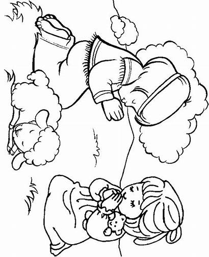 Coloring Praying Pages Boy Christian Children Religious