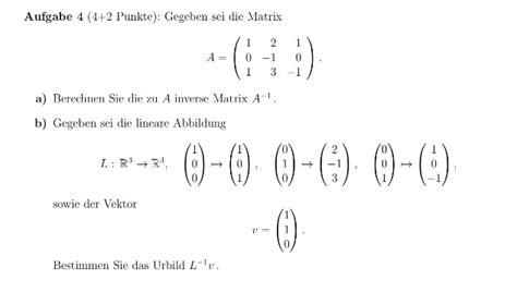 urbild lineare abbildung matrix mathelounge