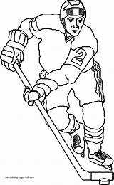 Coloring Pages Hockey Sports Printable Sheets Ice Found sketch template