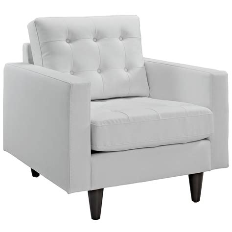 modern chairs enfield white leather chair eurway - White Leather Sofa And Chair