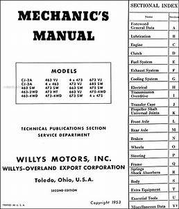 1946-1953 Willys Repair Shop Manual Reprint