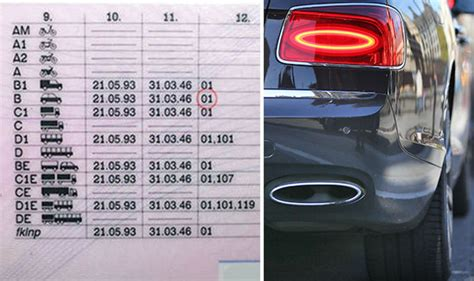 driving licences uk  hidden codes   land