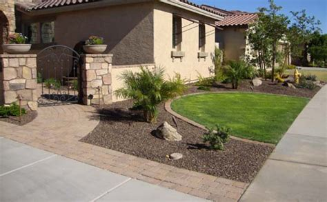 front yard landscaping ideas in arizona arizona tropical landscape design with sod palm trees plants misting systems