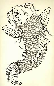 Koi tattoo sketch out by shuheffner on DeviantArt