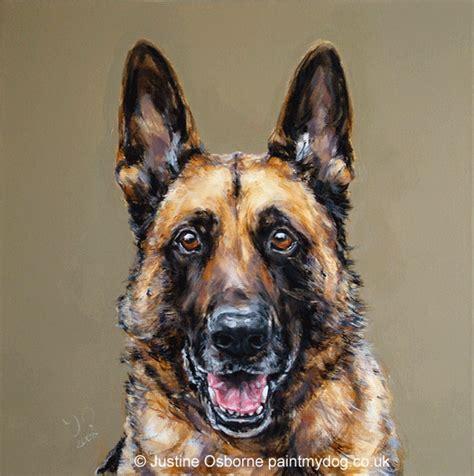 dog art  paintmydog german shepherd dog portraits