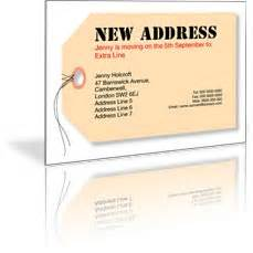 quality change of address and moving cards from gbp1850 With moving home cards template