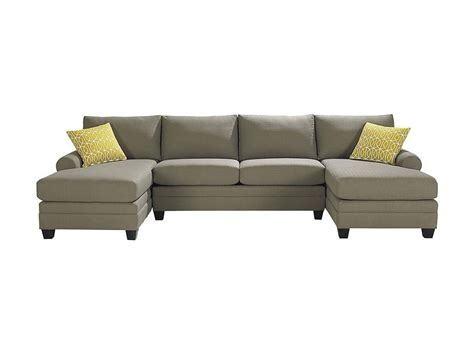 double sofas in living room bassett living room double chaise sectional 3851 csect
