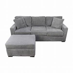 58 off macy39s macy39s radley grey sofa and ottoman sofas for Macy s grey sectional sofa